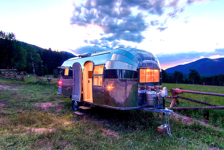 This little beauty is a 1954 Aistream Flying Cloud that was restored for Orvis. Photo courtesy of Inhabitat.